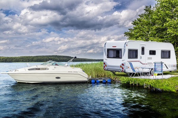 Towing your boat with an rv