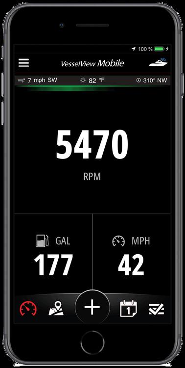 Gauges & Displays VesselView Mobile | Mercury Marine