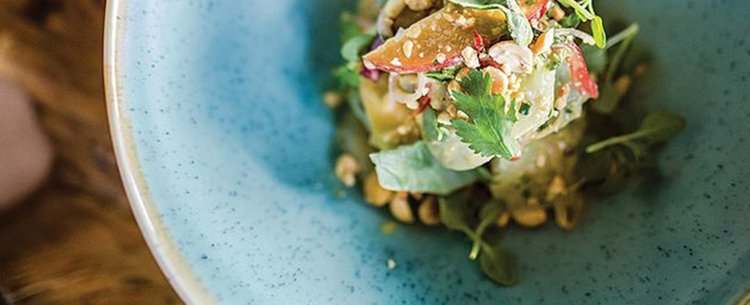 Cook Your Catch: Wahoo Ceviche with Grilled Avocado and Jalapeño-Lime Vinaigrette
