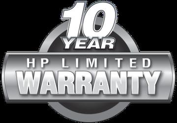 10-Year HP Warranty