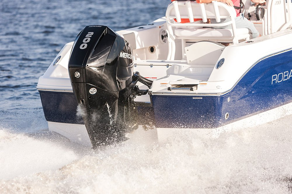 mercury marine recently expanded and augmented its outboard lineup by  launching multiple v8 4 6-liter outboard models – the 250 and 300hp  verado®,