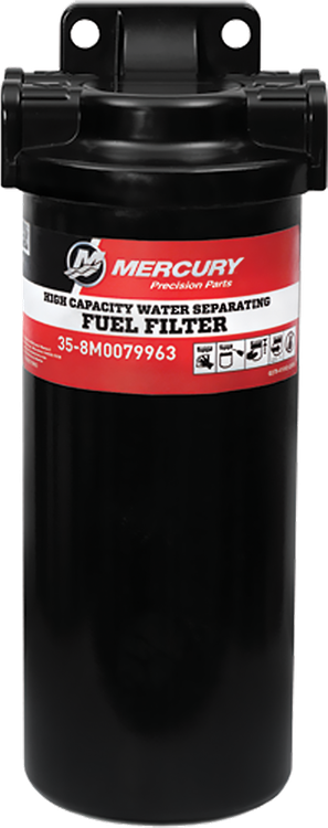 mercury fuel water filter fuel care high capacity water separating fuel filter kit mercury  water separating fuel filter kit