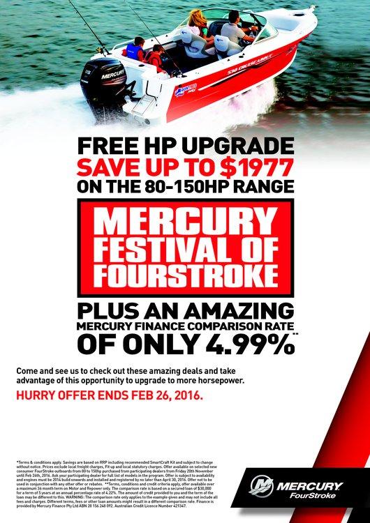 Mercury's Festival of FourStroke - Free Horsepower upgrades