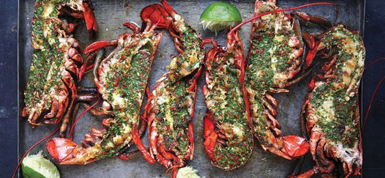 Cook Your Catch: Grilled Lobster with Cilantro-Chile Butter